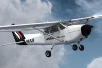 Screenshot of Malev School Cessna C-172 in flight.