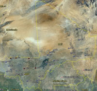Overview of Mali Airfields.
