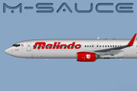 Side view of Malindo Air Boeing 737-900W.
