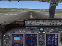 Screenshot of Default Boeing 737-800 panel.