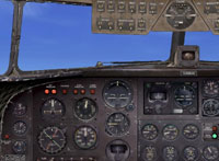 Screenshot of Default Douglas DC-3 panel.