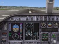 Screenshot of Default Learjet 45 panel.