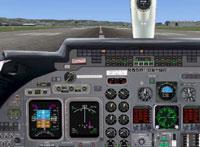 Screenshot of Learjet 60 panel.