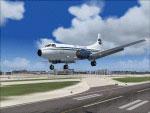Screenshot of Marco Island Airways Martin 4-0-4 above runway.