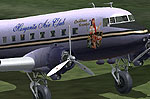 Screenshot of Margarita Air Club Douglas DC-3 on the ground.