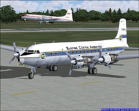 Screenshot of Maritme Central Airways DC6B on the ground.