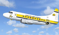 Screenshot of Iowa City Aeri Express Martin 404 in flight.
