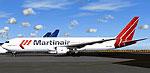 Screenshot of Martinair Boeing 767-300 on the ground.