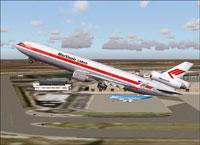 Screenshot of Martinair McDonnell Douglas MD-11 taking off.