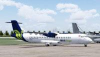 Screenshot of Maswings ATR 72-500 on the ground.