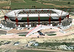 Aerial view of Mbombela Soccer Stadium.