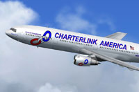 Screenshot of Charterlink Douglas DC-10-15 in flight.