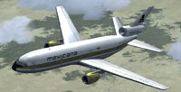 Screenshot of McDonnell Douglas DC-10 in flight.