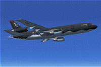 Screenshot of McDonnell-Douglas KC-10 in Shamu livery.