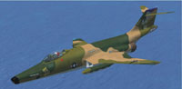 Screenshot of McDonnell F-101C Voodoo in flight.