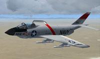 Screenshot of McDonnell F3H in flight.