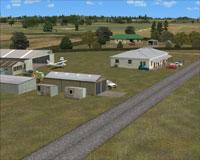 Screenshot of Mercer Airfield scenery.
