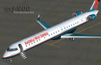 Screenshot of Mesa Airlines Bombardier CRJ 900 on the ground.