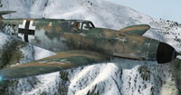 Screenshot of a dirty Messerschmitt BF109-k4 183.