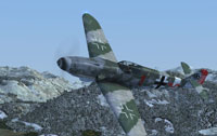 Screenshot of Messerschmitt BF109-K4 in flight.