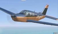 Screenshot of Metallic Pipe-Dream Piper in flight.