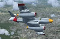 Screenshot of Meteor F8 in flight.