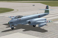 Screenshot of Meteor F8 RAAF on runway.