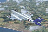 Screenshot of Meteor F8 WF714 in flight.