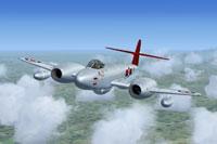 Screenshot of Meteor F8 WK722 in flight.