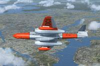 Screenshot of Meteor NF11 SE-DCI in flight.
