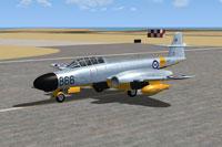 Screenshot of Meteor NF11 WD785 on runway.
