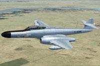 Screenshot of Meteor NF14 G-AXNE in flight.