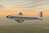 Screenshot of Mexican Air Force DC-4 in flight.