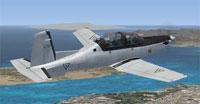 Screenshot of Mexican Air Force T-6 Texan II in flight.