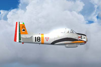 Screenshot of Mexican Air Force T28A EMET in flight.