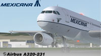 Screenshot of Mexicana Airbus A320-200.
