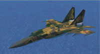 Screenshot of MiG-25 Foxbat in flight.