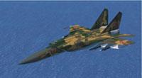 Screenshot of MiG-25 Foxbat in flight.