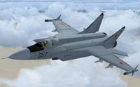 Screenshot of MiG-31M Foxhound in flight.