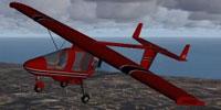 Screenshot of a red CFM Streak Shadow in flight.