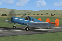 Screenshot of Miles Messenger ZK-AWE on runway.