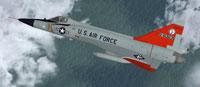 Screenshot of Minnesota ANG Convair F-102A in flight.