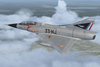 Screenshot of Mirage IIIB - ER 2/33 'Savoie' in flight.