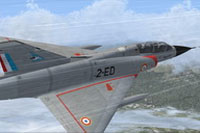 Screenshot of Mirage IIIB Cigognes in flight.