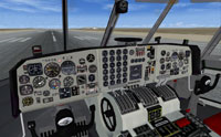 Screenshot of C-133 Cargomaster virtual cockpit.