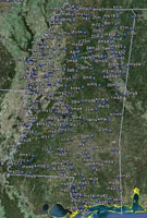 Overview of Mississippi Airfields.