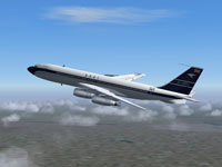 Screenshot of Boeing 707 in flight.