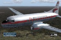 Screenshot of Mohawk Airlines Convair CV-240 in flight.