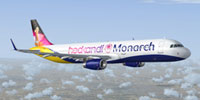 Screenshot of Monarch Airbus A321-231 in flight.