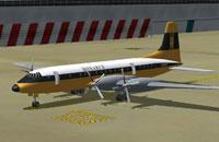 Screenshot of Monarch Airlines Bristol Britannia on the ground.